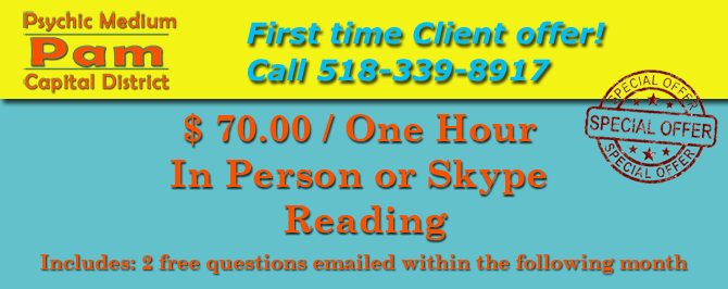 Psychic Medium Pam Capital District - Banner - Offer